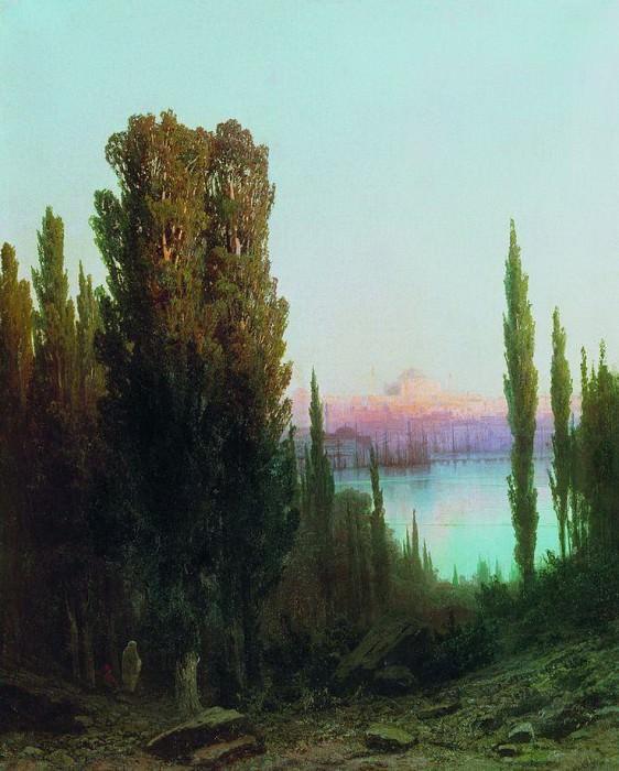 Вид турецкого города. 1878. Арсений Мещерский