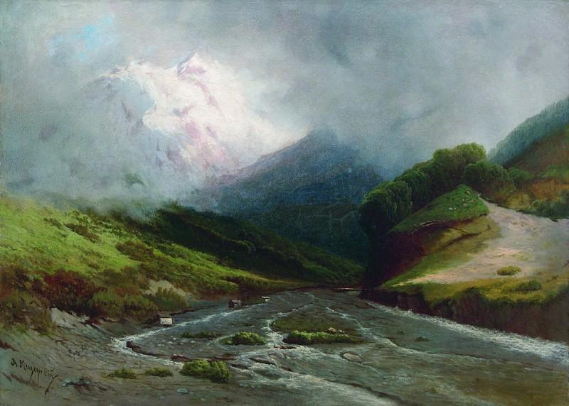 Альпийская река. 1870-е. Арсений Мещерский