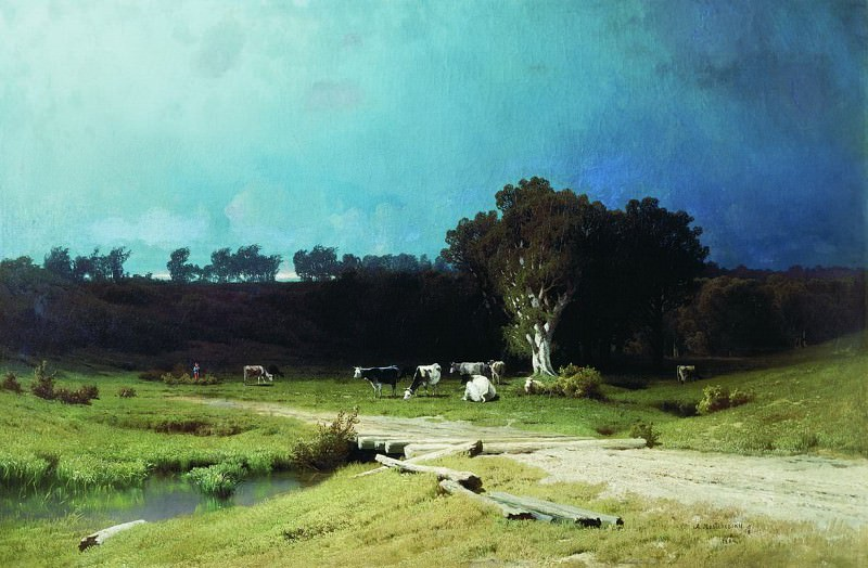 Перед грозой. 1884. Arseny Meshersky