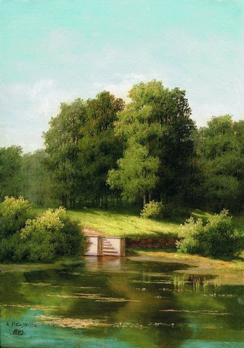 Заросший пруд. 1883. Арсений Мещерский