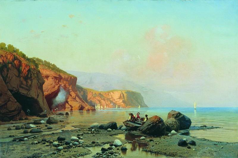 Морской пейзаж. 1871. Arseny Meshersky