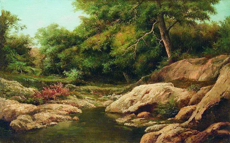 Горный ручей. 1865. Арсений Мещерский