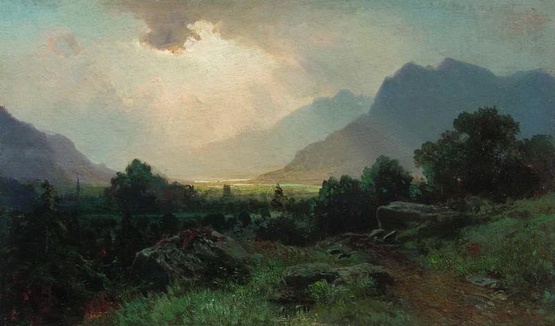 Озеро в горах. 1870. Arseny Meshersky