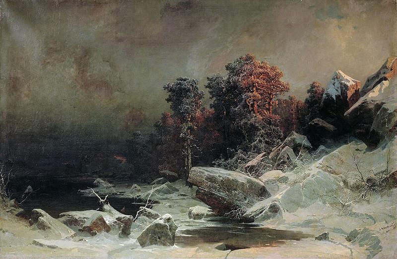 Winter evening. Arseny Meshersky