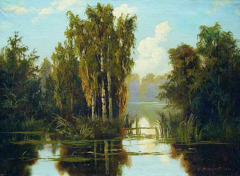 Пейзаж с озером. 1901. Arseny Meshersky