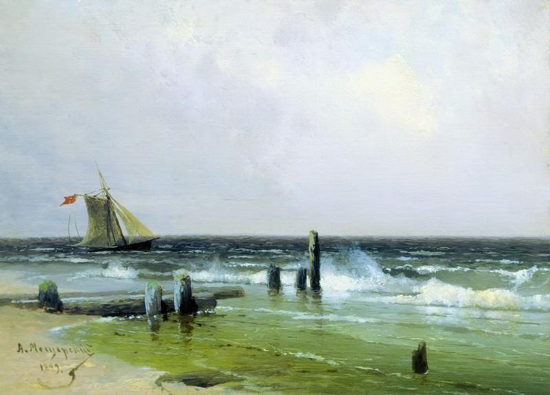 Морской пейзаж. 1899. Арсений Мещерский