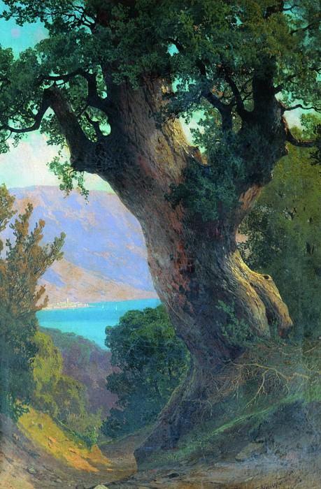 Дерево над обрывом. 1889. Arseny Meshersky