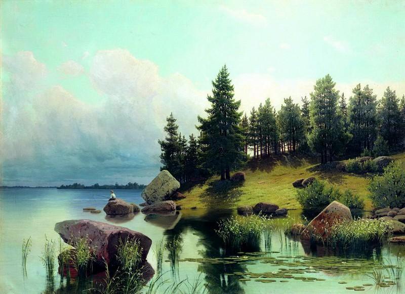 У лесного озера. 1884. Arseny Meshersky