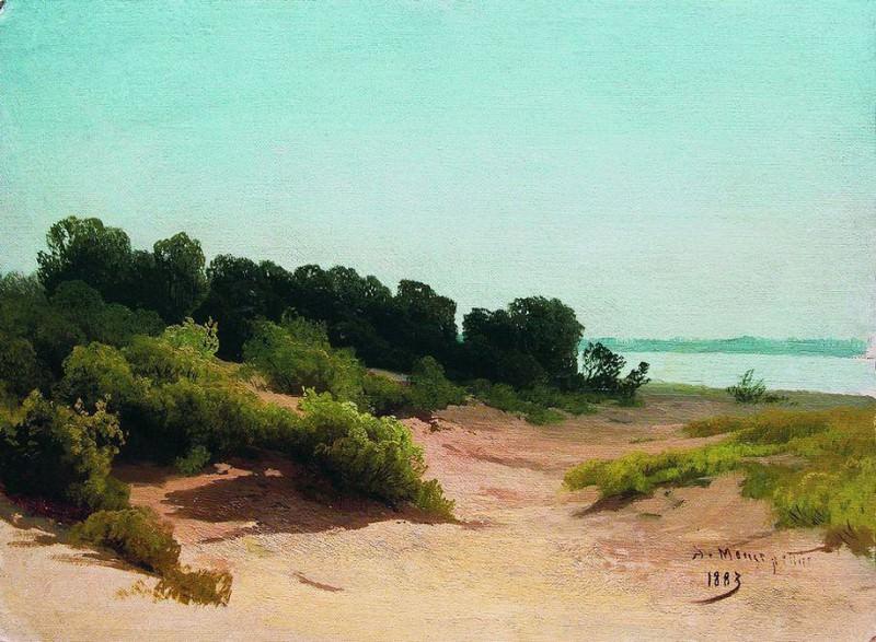 Прибрежный пейзаж. 1883. Arseny Meshersky