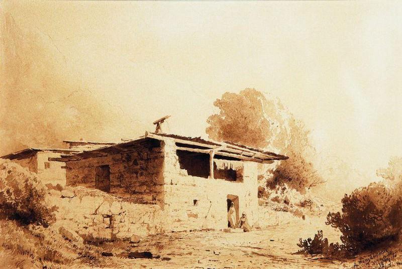 Вид в Крыму. 1873. Arseny Meshersky