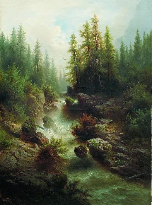 Горный поток. 1880-е. Arseny Meshersky