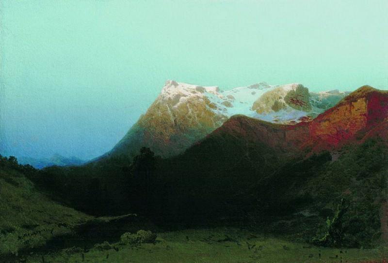 В горах (Сумерки в горах). 1891. Арсений Мещерский