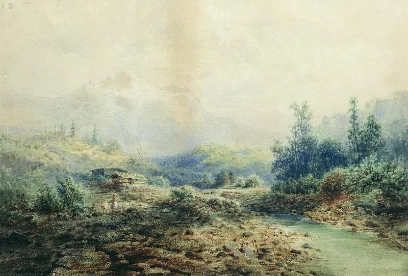 Горная речка на Кавказе. 1889. Arseny Meshersky