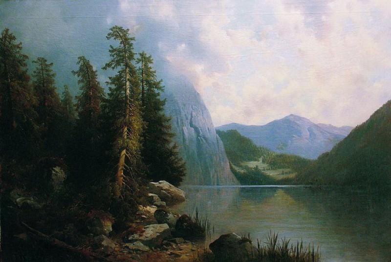 Озеро в горах. 1860-е. Арсений Мещерский
