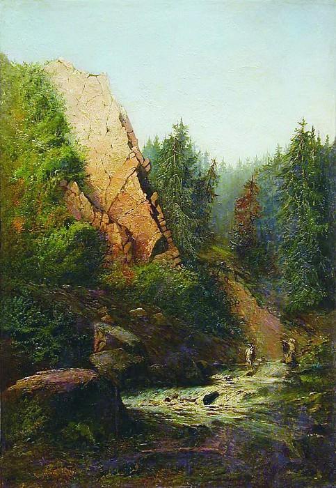 Горная река. 1871. Arseny Meshersky