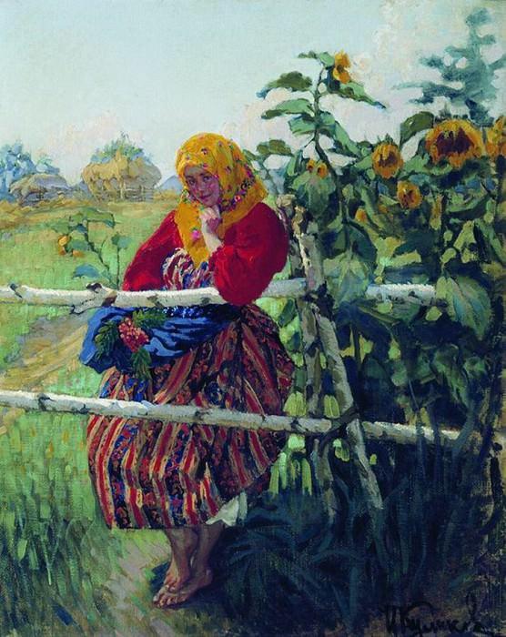 У околицы. 1913. Ivan Kulikov