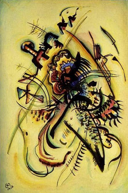 Незнакомому голосу. 1916. Vasily Kandinsky