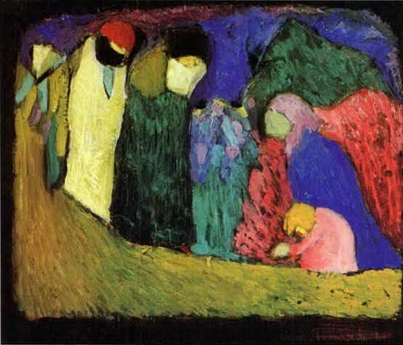 Столкновение. 1908. Vasily Kandinsky