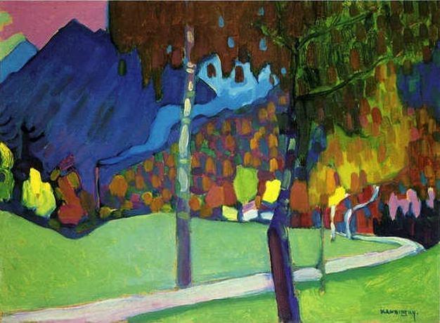 Осенний этюд у Оберау. 1908. Vasily Kandinsky