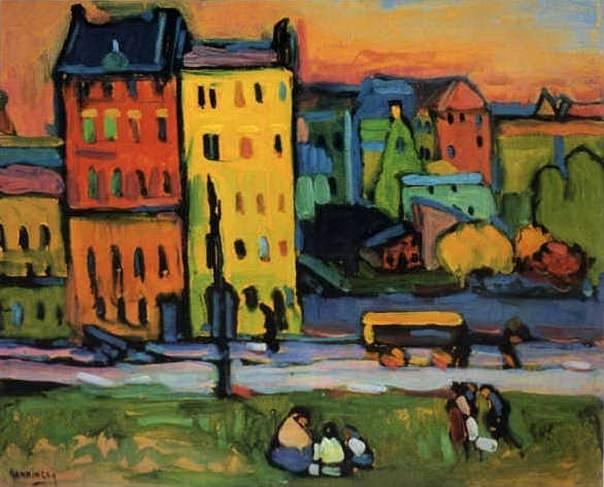 Дома в Мюнхене. 1908. Vasily Kandinsky