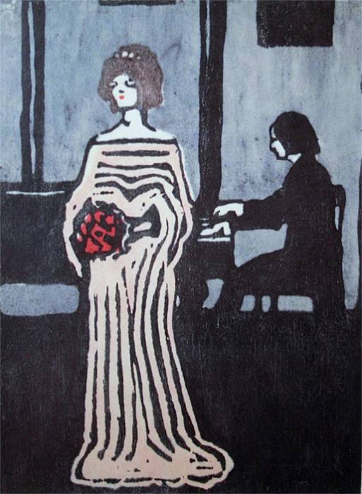 Певица. 1903. Vasily Kandinsky