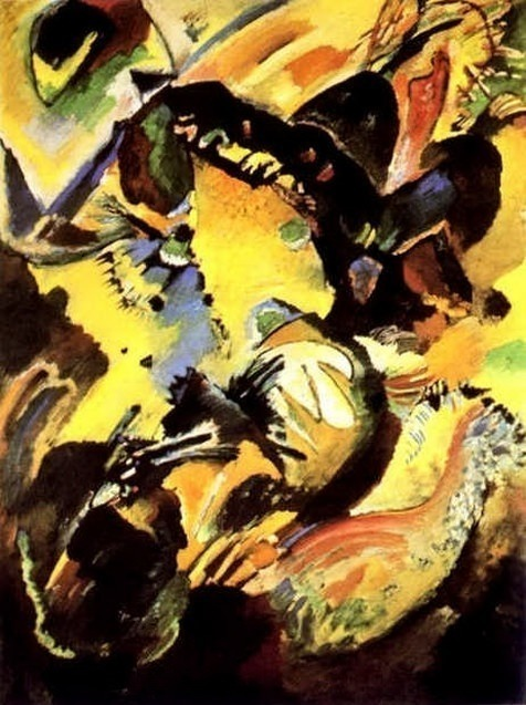 Настенное панно (для виллы Эдвина Р. Кемпбелла). 1914 104. Vasily Kandinsky