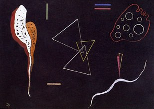 Три треугольника. 1938. Vasily Kandinsky