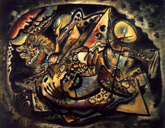 Серый Овал. 1917. Vasily Kandinsky