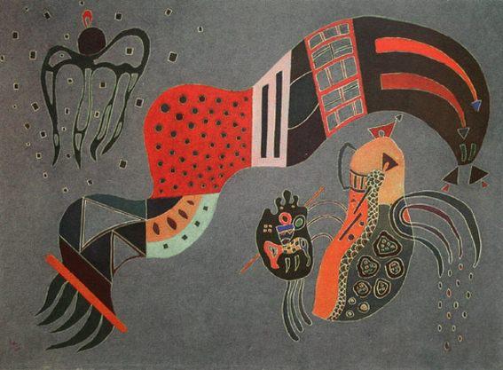 Сдержанный порыв. 1944. Vasily Kandinsky