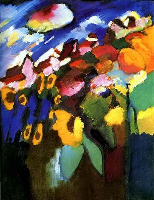 Мурнау. Сад. 1909. Vasily Kandinsky