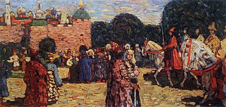 Воскресенье (Древняя Русь). 1904. Vasily Kandinsky