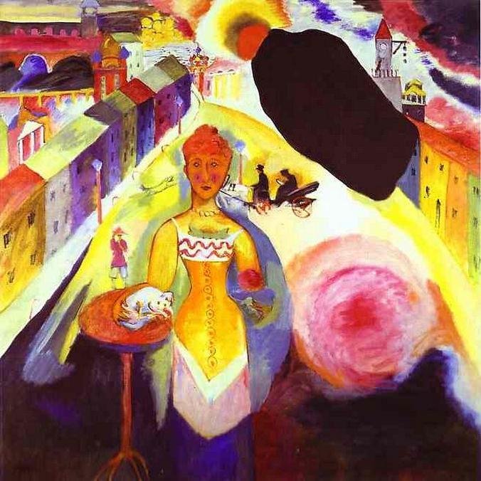 Женщина в Москве. 1912. Vasily Kandinsky