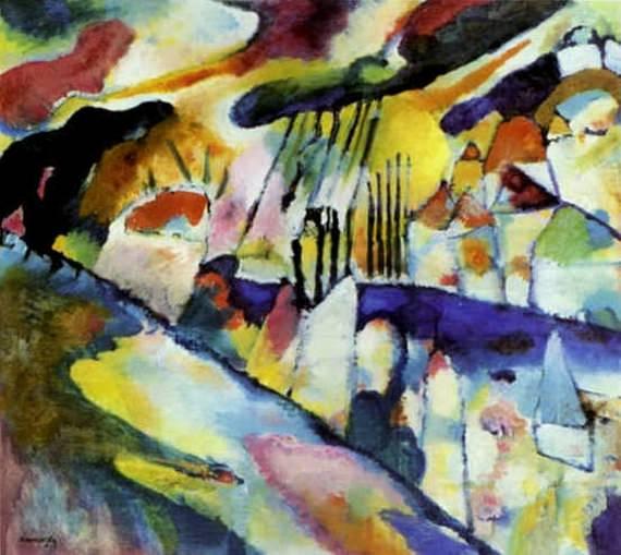 Пейзаж с дождем. 1913. Vasily Kandinsky
