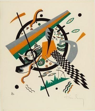 Иллюстрация IV из альбома Маленькие Миры. 1922. Vasily Kandinsky