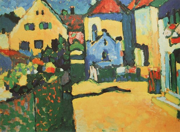 Зеленая улочка в Мурнау. 1909. Vasily Kandinsky