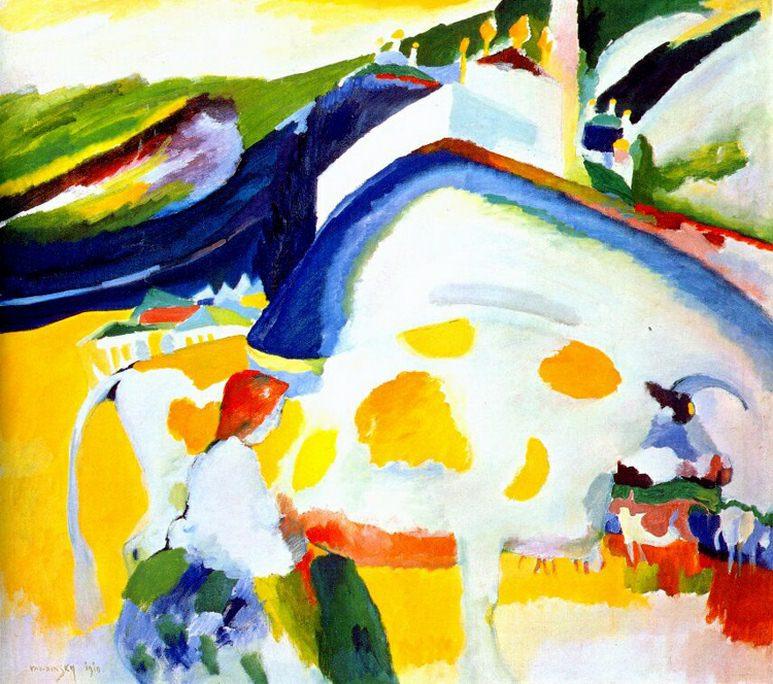 Без названия. (2) 1910. Vasily Kandinsky