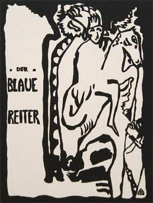 Синий всадник, титульный лист альманаха. 1911 - 1912. Vasily Kandinsky