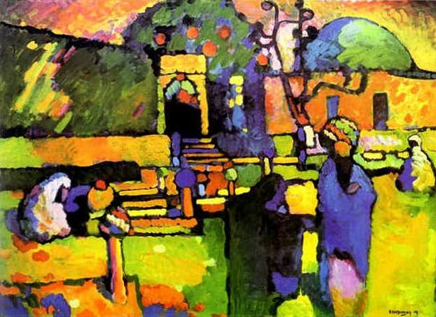 Арабы (Кладбище). 1909. Vasily Kandinsky
