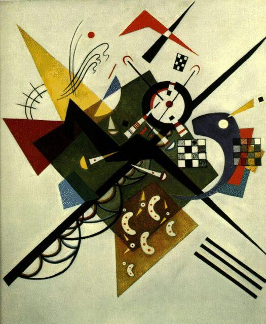 На белом II. 1923. Vasily Kandinsky