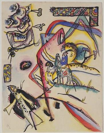 Всадник. 1916. Vasily Kandinsky