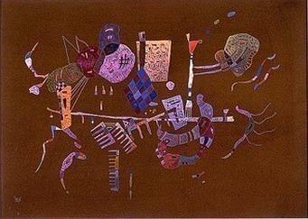 Вокруг линии. 1943. Vasily Kandinsky