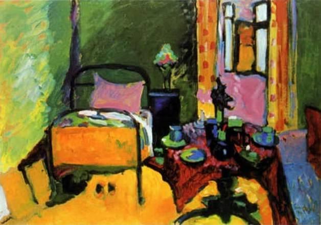 Спальня в Айнмиллерштрассе. 1909. Vasily Kandinsky