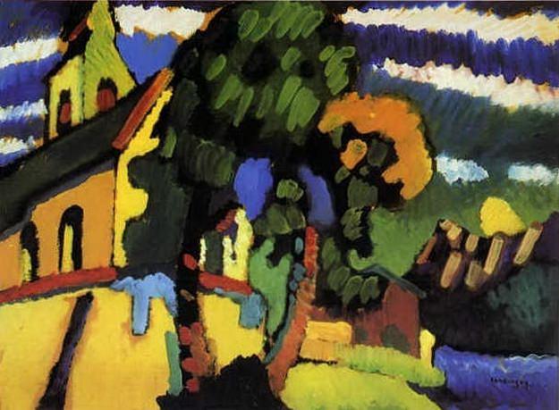 Ригзее. Деревенская церковь. 1908. Vasily Kandinsky