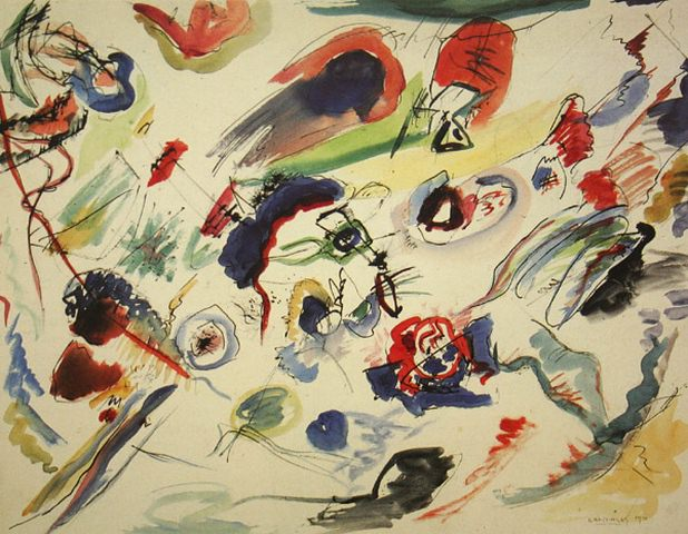 Без названия (Первая абстрактная акварель). 1910. Василий Васильевич Кандинский