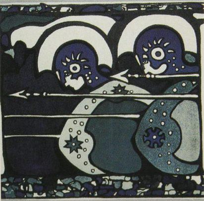 Плакат первой выставки Фаланги (фрагмент). 1901. Vasily Kandinsky