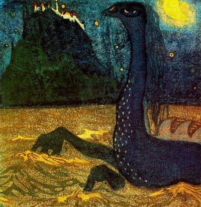 Лунная ночь. 1907. Vasily Kandinsky
