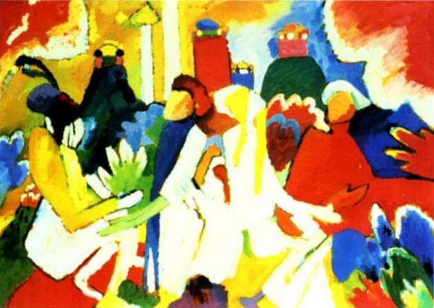 Восточное. 1909. Vasily Kandinsky