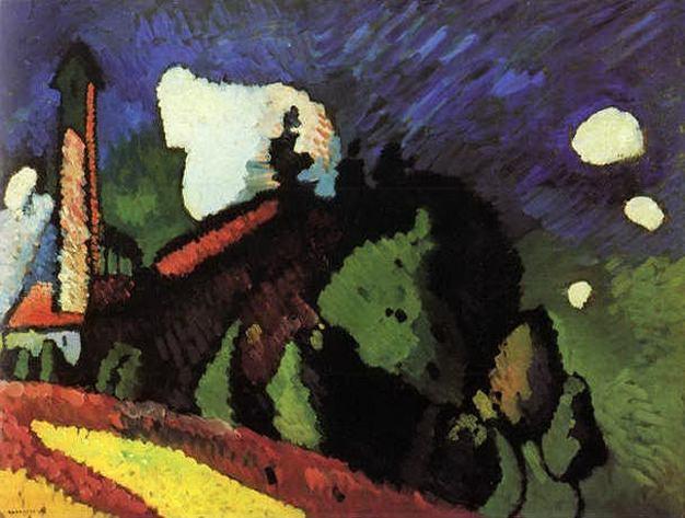 Мурнау. Пейзаж с башней. 1908. Vasily Kandinsky