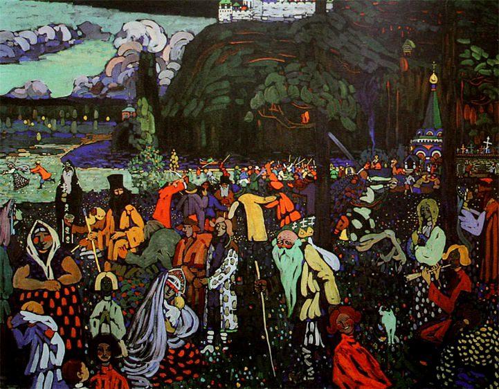 Пестрая жизнь. 1907. Vasily Kandinsky
