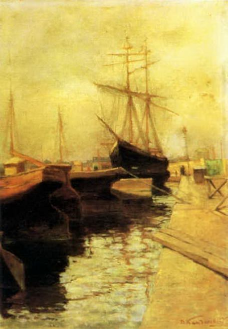 Одесса. Порт. 1898. Vasily Kandinsky
